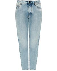 Palm Angels Jeans With Logo - Blue