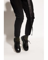 Off-White c/o Virgil Abloh Patent Leather Boots Black