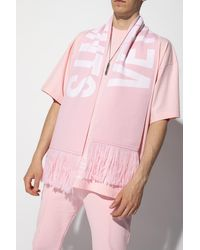 Vetements Scarf With Logo - Pink