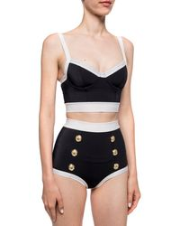 Balmain - Two-piece Swimsuit Black - Lyst