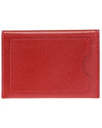 Ferragamo Card Case With Bow Red