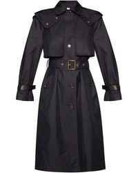 COACH Hooded Coat Navy Blue