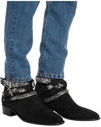 Amiri Bandana-strap Ankle Boots - Black