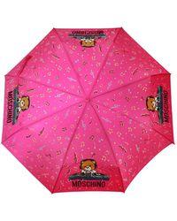 Moschino Umbrella With Logo Unisex Pink