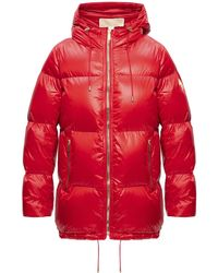 MICHAEL Michael Kors Down Jacket With Logo Red