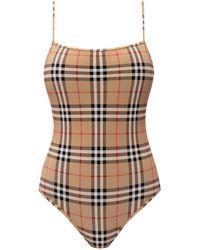 Burberry Archive Check One-piece Swimsuit - Multicolour