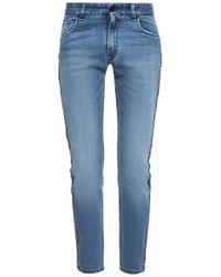 Fendi - Side-stripe Jeans - Lyst