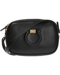ae84c4ada120 Ferragamo Gelly Medium Stud Shoulder Bag in Black - Lyst