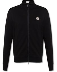 Moncler - Sweatshirt With Stand-up Collar - Lyst
