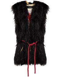 DSquared² Faux-fur Vest - Black