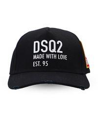 DSquared² Logo-patched Baseball Cap - Black