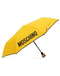 Moschino Umbrella With Logo Unisex Yellow