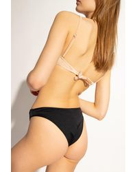 DIESEL Swimsuit Top With Logo Beige - Natural