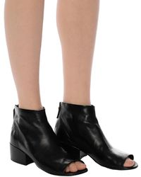 Marsèll Heeled Ankle Boots With Cut-out Black