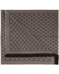 Gucci 'GG Original' Pattern Scarf - Brown
