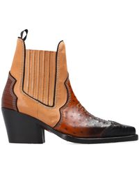 DSquared² Leather Cowboy Boots - Brown