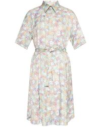 PS by Paul Smith - Belted-waist Dress Multicolour - Lyst