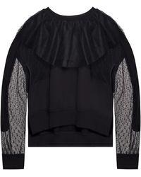 RED Valentino Tulle-trimmed Sweatshirt Black