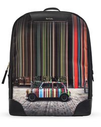 Paul Smith Printed Backpack Multicolor - Black