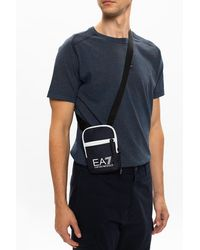 EA7 Branded Shoulder Bag Navy Blue