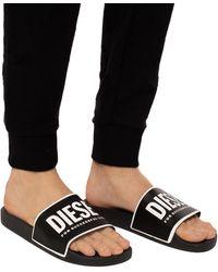 DIESEL Logo Slides - Black