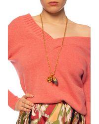 Marni Multi-pendant Chain Necklace - Metallic