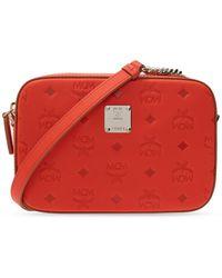 MCM Branded Shoulder Bag Red