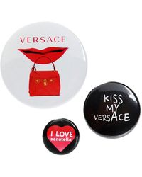 Versace Set Of 3 Pins - Red