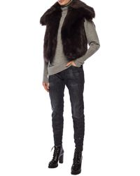 DSquared² Faux Fur Vest - Brown