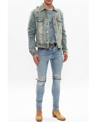 Amiri Distressed Jeans Blue