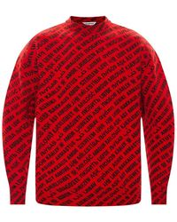 Balenciaga Patterned Sweater Red