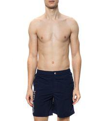 KENZO Swim Shorts With Logo Navy Blue