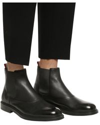 Bally Leather Ankle Boots Black