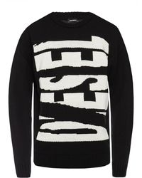 DIESEL Branded Sweater - Black