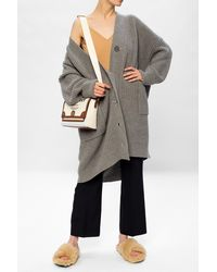 Moschino Oversize Cashmere Cardigan - Grey