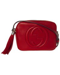 Gucci 'soho Disco' Crossbody Bag - Red