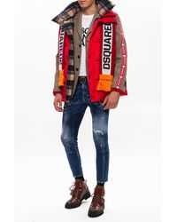 DSquared² Down Vest With Logo Red