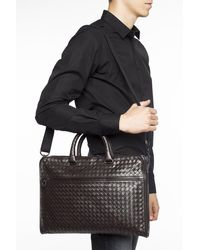 Bottega Veneta 'intrecciato' Weave Briefcase Brown