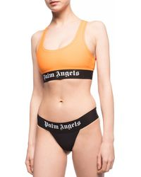 Palm Angels Logo Print Briefs - Black