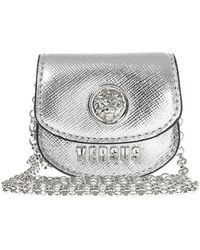 Versace - Bag Charm Necklace - Lyst
