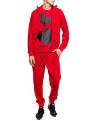 Y-3 Logo-printed Sweatshirt Red