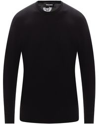 DSquared² Patched Hoodie Black