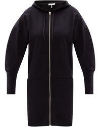 Rag & Bone Forest Hoodie Mini Dress French Terry Dress - Black