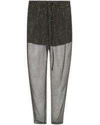 RED Valentino Patterned Pants - Black