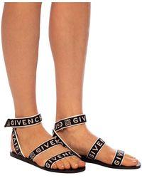 Givenchy Logo Strappy Sandals - Black