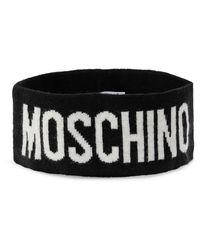 Moschino Logo Headband - Black