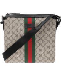 Gucci - 'web' Stripe Shoulder Bag - Lyst