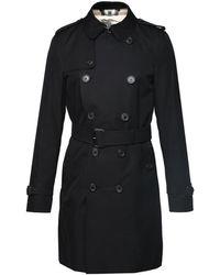 Burberry Kensington Short Trench Coat - Black