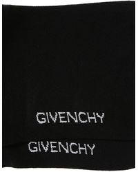 Givenchy Embroidered Star Long Socks Black