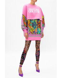 Versace Jeans Couture Logo Sweatshirt Pink